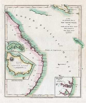 1794 Wilkinson Map of New South Wales, Australia