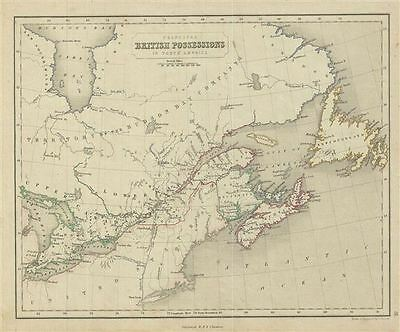 1845 Chambers Map of Canada or the British Possessions in North America