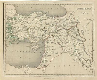 1845 Chambers Map of Turkey in Asia