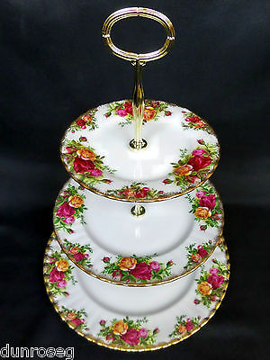 Old Country Roses 3-Tier Cake Stand, Gen. Good Condition, England, Royal Albert