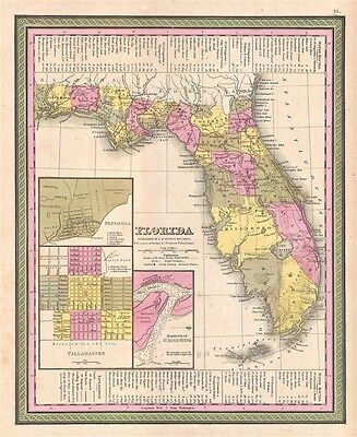 1849 Mitchell Map of Florida
