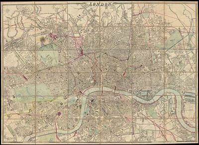 1866 Cassell Case Map of London, England (monumental)