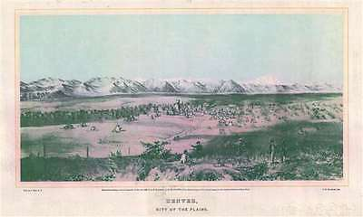 1866 Mathews View of Denver, Colorado