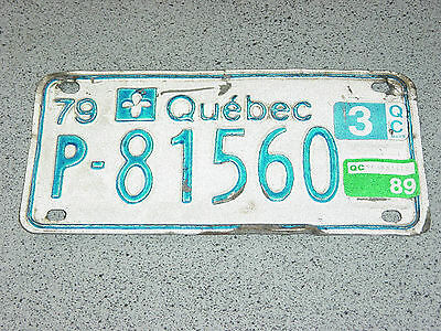 1979 1989 Quebec Canada Small License Plate P-81560 Trailer, Car Vintage, VTT