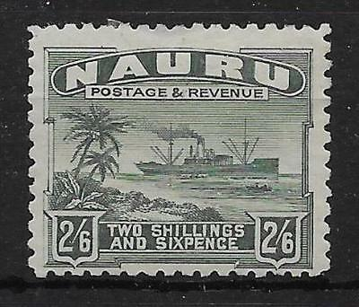 Nauru Sg37A 1924 2/6 Grey-Green Mtd Mint