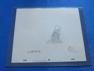WALTER LANTZ SIGNED 12.5 x 10.5 AUTHENTIC WOODY WOODPECKER CARTOON DRAWING