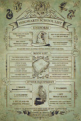 Harry Potter (Hogwarts School List) Maxi Poster PP34102 Size: 61 x 91.5cm