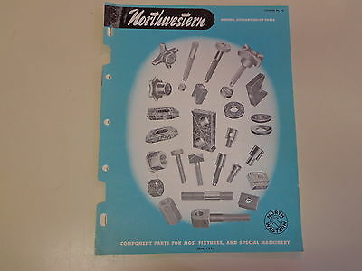 Northwestern Jigs, Fixtures and Special Machinery Machinist Catalog 1958 Tools