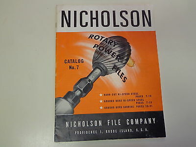 Nicholson Rotary Power Files Machinist Catalog 1957 Burring Steel Tools