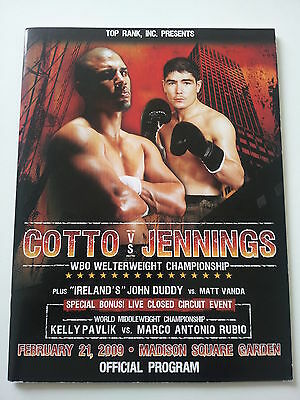 Miguel Cotto v Michael Jennings Original On-site Boxing Program 2009