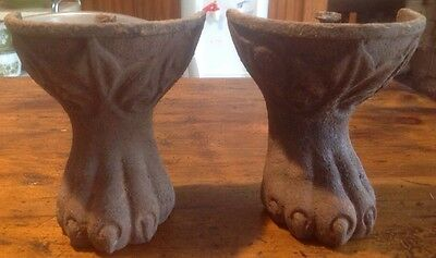 Pair  Cast Iron Antique Clawfoot Bath Tub Feet CLAW FOOT Feet Bathtub Lion Paw