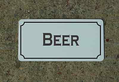 "BEER 6""X12"" Tin Metal Sign Vintage Style Design for Kitchen Bar Decor"