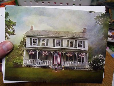 Old Glory Greeting Card for 4th of July Memorial Day Blank Inside w envelope