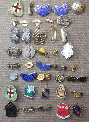 Vintage Lot of 40 Miscellaneous US Army & Air Force Pins & Insignia # 4