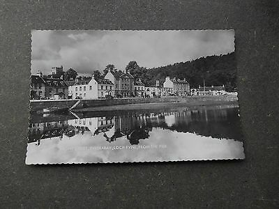 Postcard INVERARAY Loch Fyne, Front Street from the Pier - RP