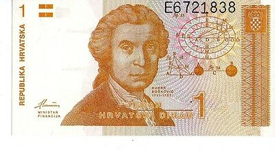 Croatia 1991 1Dinara Currency Unc