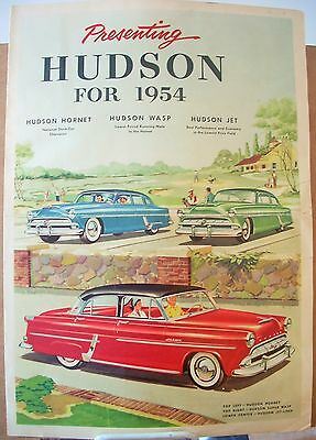 1954 Hudson Hornet Wasp Jet Dealer Sales Brochure