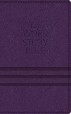 KJV, Word Study Bible, Imitation Leather, Purple, Indexed, Red Letter Edition: 1