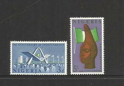 NIGERIA ~ 1962 ~ 2nd ANNIV. OF INDEPENDENCE (MINT MH)