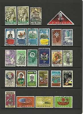 Nigeria ~ Mid Modern Small Collection Postally Used