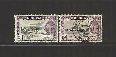 Nigeria ~ 1958-59 Qe Ii Commemoratives (Postally Used)