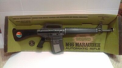 Mattel 1966 M-16 Marauder Automatic Toy Rifle Boxed Excellent Working NMIB