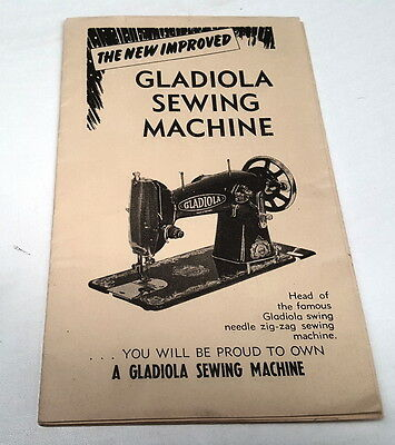 1950s  GLADIOLA SEWING MACHINES Sales Brochure South Australia