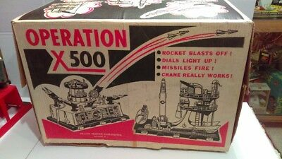 1960 Deluxe Reading Operation X-500 Space Play Station In Original Box Nice
