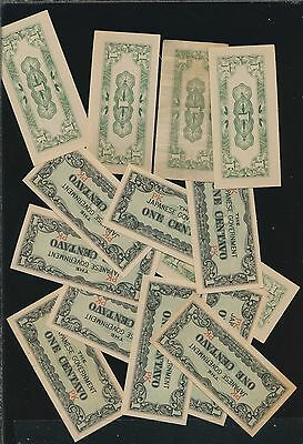 Japan Lot Of Wwii Notes 1 Centavo (14) - Near Mint To Mint On Most