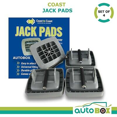 Coast Jack Pads Set of 4, 80mm for Caravan Stabilizer Legs Foot Plate Level Feet