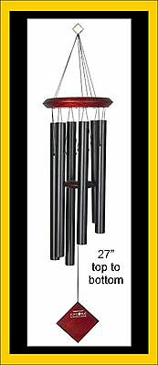 """Personalized Engraved Wood Metal Windchimes 27"""", Funeral Memorial Gift"""