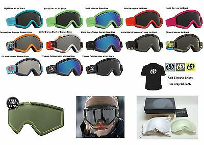 NEW Electric EGV mens womens ski snowboard goggles + lens 2016 Msrp$100