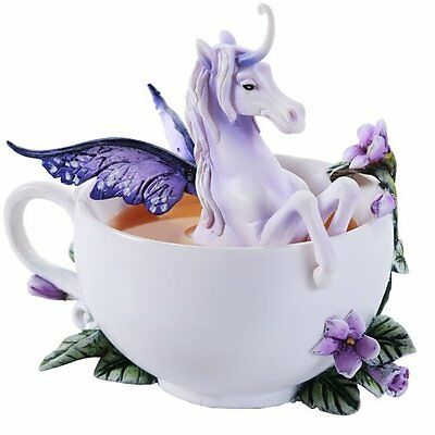 Amy Brown White Unicorn SPA Teacup Collection Figurine Statue