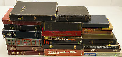 Lot of 20 BIBLES - Many Translations