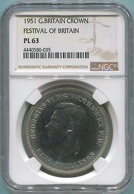1951 Great Britain Crown. Festival of Britain. NGC PL63