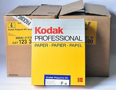"1986 KODAK Professional Paper Polyprint RC F M 8"" X 10"" 250 New in Box Sealed"