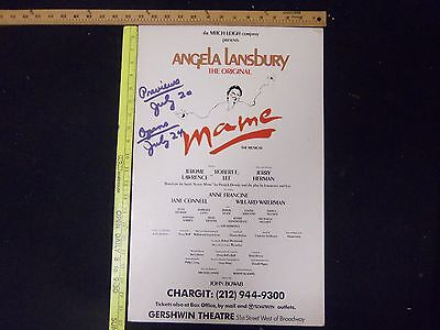 Angely Landsbury Mame & Gypsy Theatre Posters - Lot Of 3 - P 273