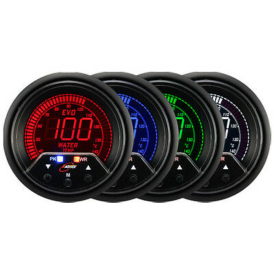 60mm Autogauge Digital Premium PEAK EVO Gauge water temp Meter SMOKE LED 4