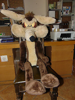 Huge GIANT 52 Inch Posable Figure Plush Wile E Wiley Coyote Ace Novelty Company