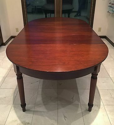 "SUTER'S Mahogany 50"" Sheraton Extension Dining Table W/3 16"" Leaves RETAIL $7655"