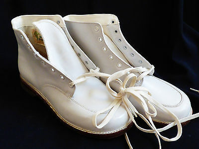VTG white Leather Child Shoes Pretested Poll-Parrot Thrift Light Thread NEW