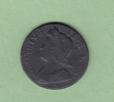 1737 Great Britain 1/2 Penny Copper Coin - George III - G/VG