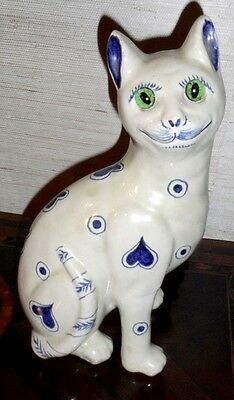 Antique  Original  Ceramic Emile Galle cat  ,Signed