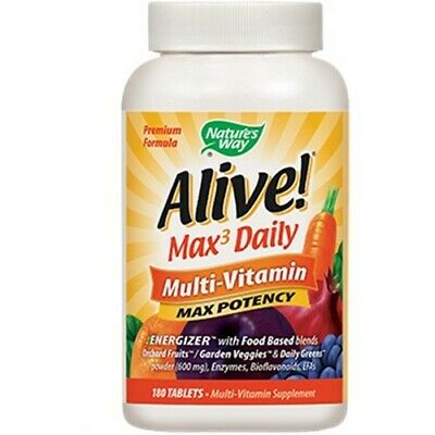 Nature's Way - Alive! Multi-Vitamin(with iron) 180 Tablets