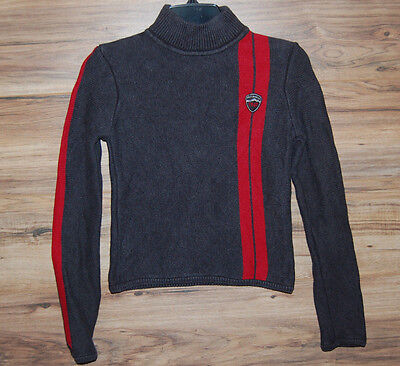 Ralph Lauren Polo Jeans Co Sweater Size Small Small 1967 Gray Red Stripe