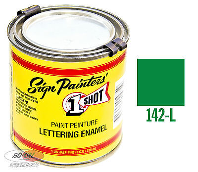 1 Shot Paint Emerald 1/4 Pint Lettering Enamel Hot Rod Custom Pinstriping Sign