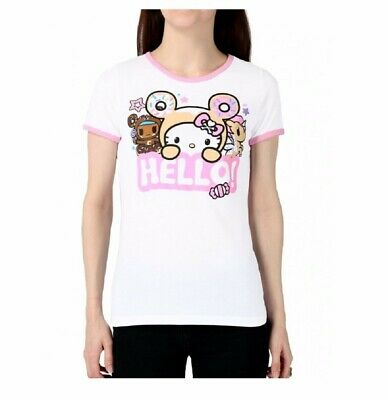 6cd2494dd TOKIDOKI X HELLO Kitty Say Hello Ringer Junior T Shirt - $19.95 ...