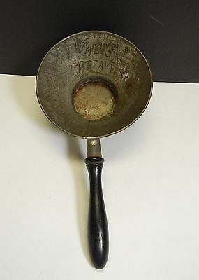 Wheatlet for Breakfast advertising funnel wood handle tin cap country vintage