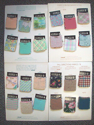 """1970's swatches samples of Fabrizzaar Fabrics 240  pieces 2"""" by 2"""""""