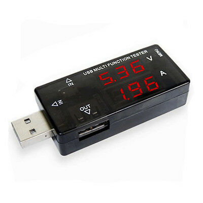 Digital USB Charger Tester Amp mA charge current Volt Meter With Micro USB Input